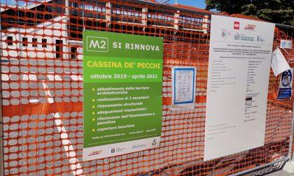 Lavori alla metropolitana a Cassina: ancora un ritardo