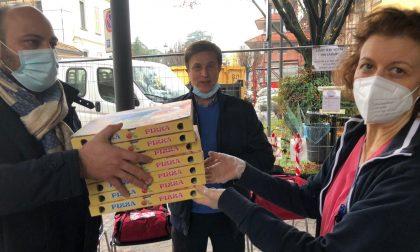 Pizze donate all'ospedale Marchesi di Inzago