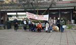 Presidio di protesta davanti al Comune di Peschiera FOTO