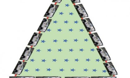 All'Idroscalo un albero di Natale simbolico contro la pandemia