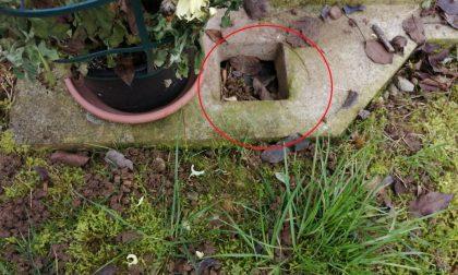 Razzia di rame al camposanto di Grezzago: sparita una ventina di vasi dalle tombe FOTO