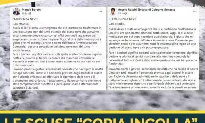 Scuse in fotocopia dei sindaci della Lega: dopo la nevicata è di nuovo bufera a Cologno