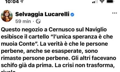 Negozio di Cernusco augura la morte del premier Conte: bufera nazionale