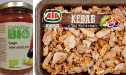 Vetro nel sugo alle verdure Carrefour, plastica nel kebab di Aia e Conad
