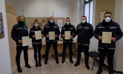 Lotta al Covid, Regione Lombardia ha premiato sei agenti della Polizia Locale di Brembate, Capriate e Chignolo