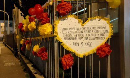 8 marzo: fuori dall'Uboldo l'omaggio alle donne che lottano per sconfiggere il Covid