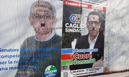 Cassano, svastiche e baffetti alla Adolf Hitler sui manifesti dei candidati alle primarie del centrosinistra
