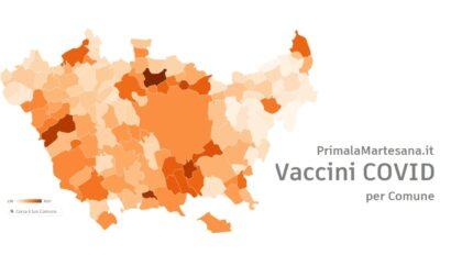 Quanti vaccini sono stati fatti in Martesana? Ecco i dati COMUNE PER COMUNE