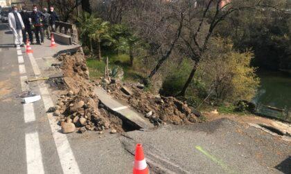 Brembate: cede la strada in via San Vittore
