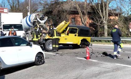 Schianto sul ponte a Rivolta, convolta una betoniera
