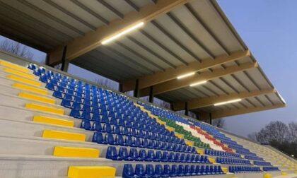 E' pronto dopo i lavori di riqualificazione lo stadio Gaetano Scirea di Cernusco sul Naviglio