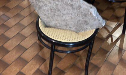 Gettano sassi dal camino sfondando il soffitto del ristorante