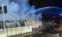 Incendio alla piattaforma ecologica di Brugherio intervengono i Vigili del fuoco