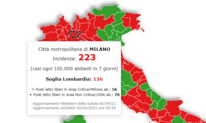 La Lombardia resta in zona rossa, ma l'indice Rt (a 0.89) scende. Incidenza ancora in calo a Milano e provincia