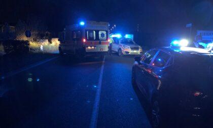 Incidente sulla Sp104: pedone investito e portato in ospedale