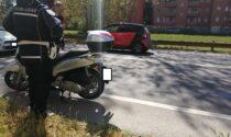 Incidente tra auto e scooter sulla Padana, arriva l'elisoccorso