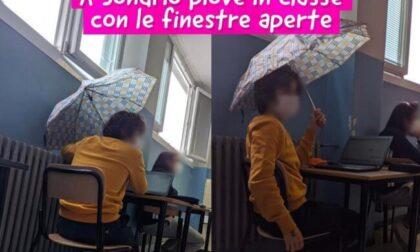 In classe con l'ombrello: la foto che spopola su Instagram
