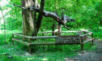 Volontari rimettono a nuovo la staccionata vandalizzata del Drago Tarantasio