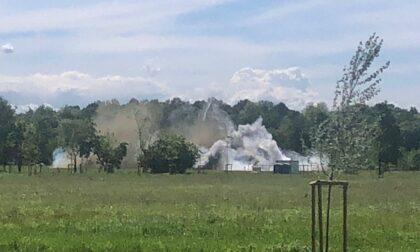 Bomba esplosa a Segrate: le foto e i video