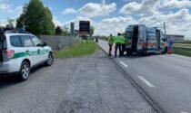 Ciclista ha un malore a Cassano d'Adda arriva l'elisoccorso