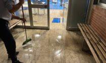 Bomba d'acqua a Melzo e le palestre finiscono allagate
