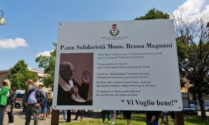 Messa e intitolazione di una piazza a monsignor Bruno Magnani