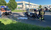 Scontro auto-moto a Gessate: ferito un 23enne