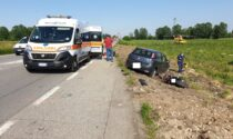 Incidente auto-moto sulla Rivoltana, grave motociclista