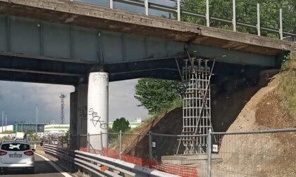 Puntellato il ponte sopra la Tangenziale Est