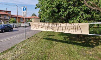 Manifestazione a Bussero contro la vasca di laminazione del Molgora