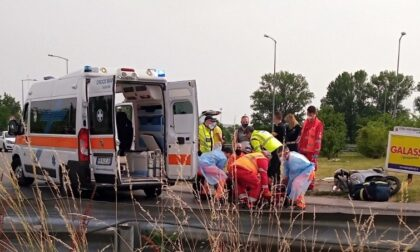 Incidente sulla Cerca, paura per un motociclista