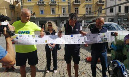 Da Trieste ad Aosta a piedi per sostenere l'Avis: missione compiuta per il carugatese Maurizio Grandi