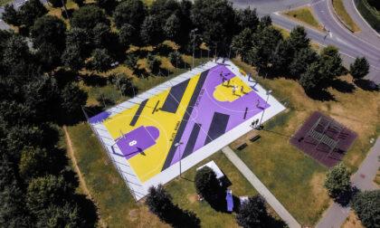 Ecco il campo da basket riqualificato a Vaprio d'Adda in memoria di Kobe Bryant
