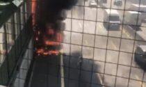 Veicolo in fiamme sull'autostrada A4