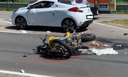 Incidente in moto sulla Provinciale 179, padre e figlia soccorsi in codice rosso