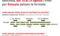 Dal 16 agosto chiusa la stazione di Bussero in direzione Gessate: come muoversi