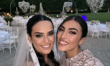Anche Giulia Salemi e Veronica Ferraro tra i vip al matrimonio di Filippo Graziani e Catherine Poulain a Cassano d'Adda
