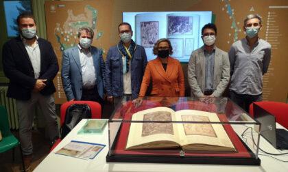Il Codice Resta esposto al Museo della Valle dell'Adda di Trezzo