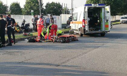 Sedicenne cade a terra con la moto: soccorso in codice giallo