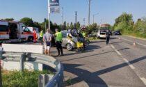 Incidente sulla Rivoltana a Novegro. Automedica e ambulanza in codice rosso
