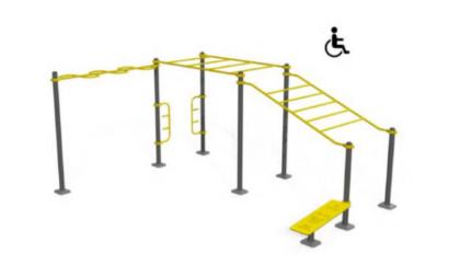 Tre nuove aree fitness all'aperto accessibili anche ai disabili