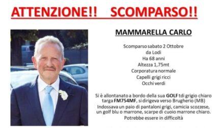 Sale in macchina e sparisce: si cerca il 68enne Carlo Mammarella