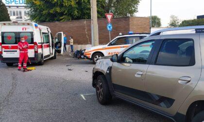 Incidente fra un centauro e un'automobilista