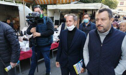 Bagno di folla per Matteo Salvini al mercato di Cassano d'Adda