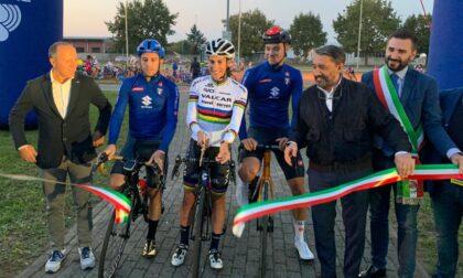 Il velodromo di Pessano inaugurato da campioni olimpici e mondiali