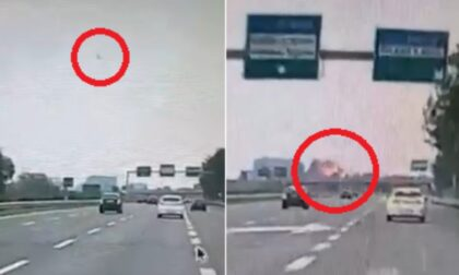 Il video dell'aereo che precipita a San Donato