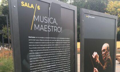 Mostra su Ennio Morricone vandalizzata poche ore dopo l'inaugurazione